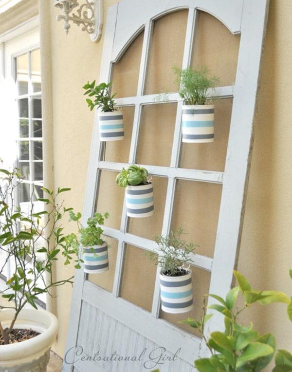 Old door herb garden