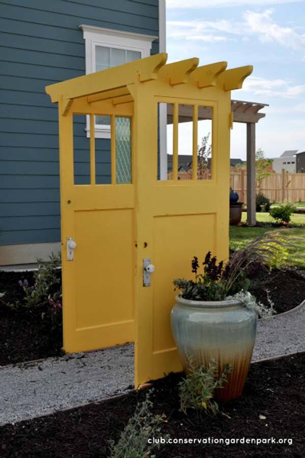 Yellow door pergola