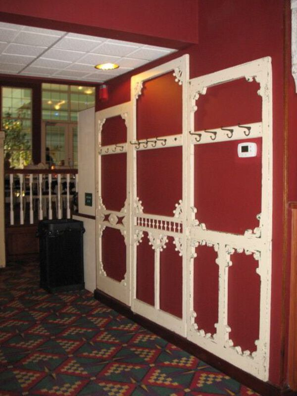 Door frame wall hooks