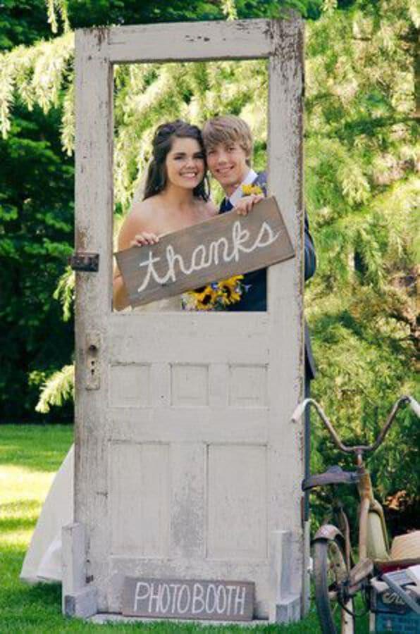 Old door photo booth