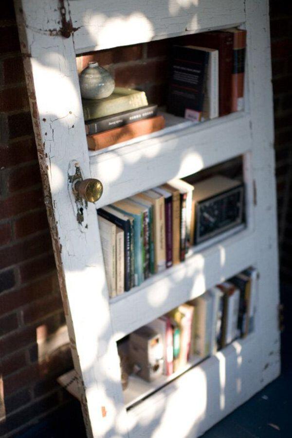White old door bookshelf