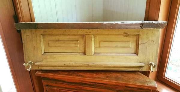Primative wood shelf