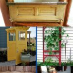 Old door decor collage