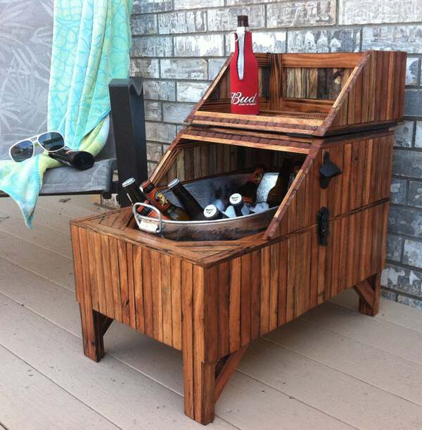Washtub reclaimed wood bar