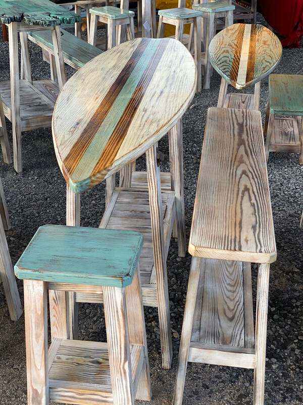 Surfboard table and chair