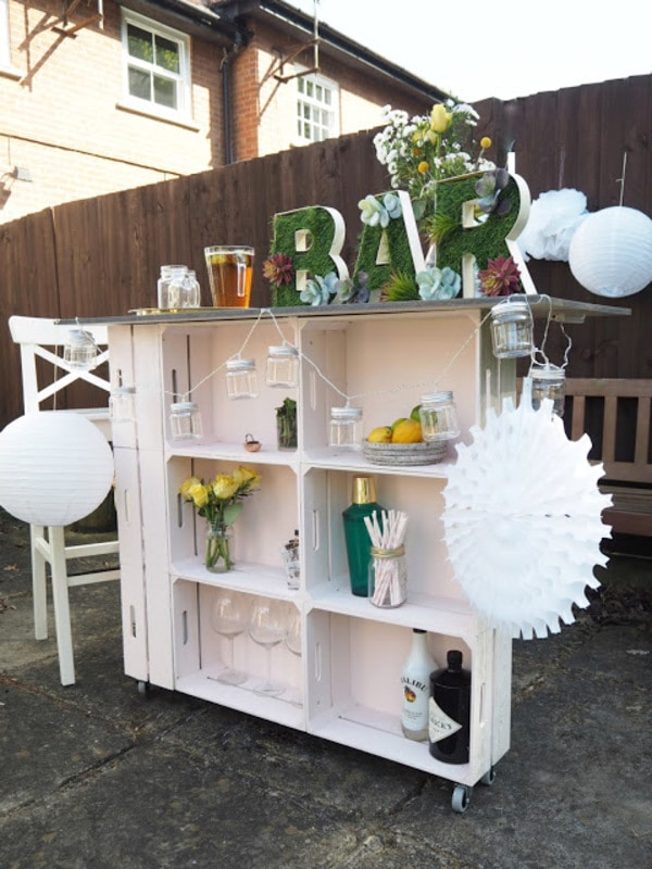 Wood crate bar
