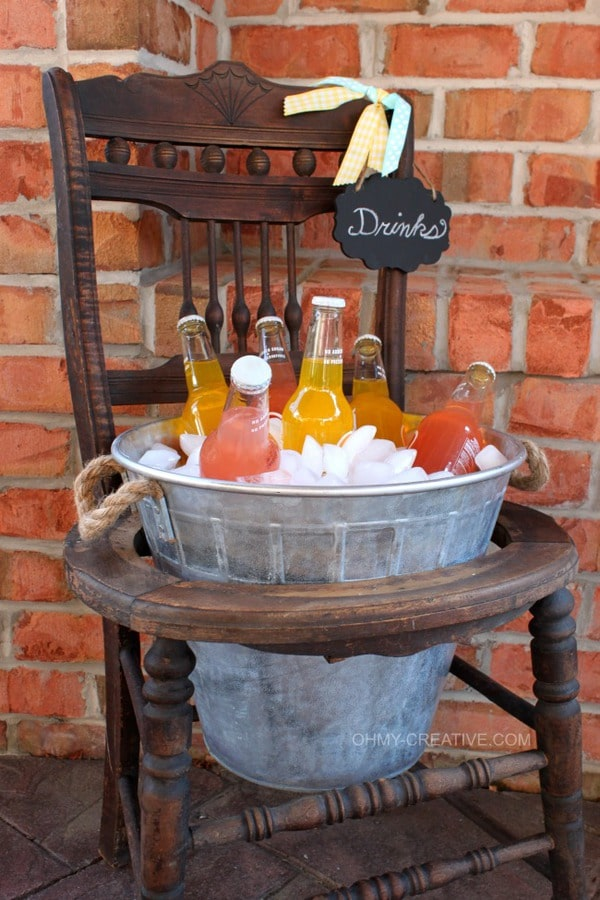 Chair drink bucket