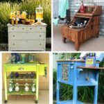 Outdoor bar idea collage