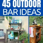 Outdoor bar idea collage