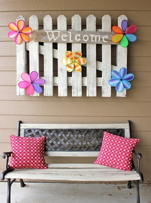 Picket fence welcome