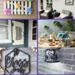 Porch wall decor collage