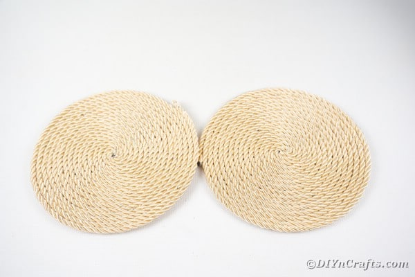 Two rope circles on white table