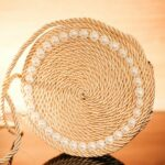 Rope purse on wood table