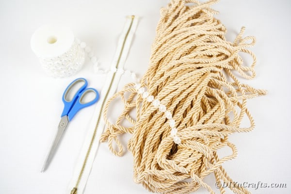 Supplies for rope purse