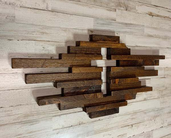 Rustic wooden cross wall art