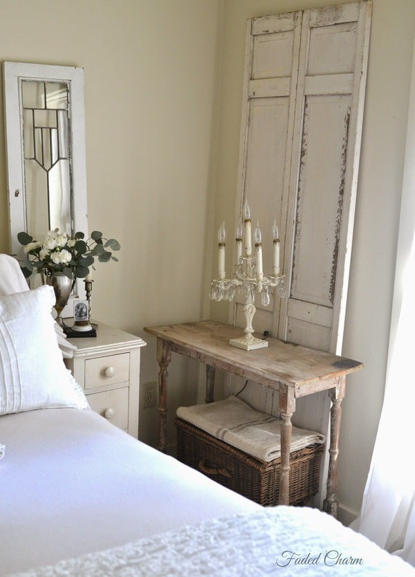 Weathered white bedroom furniture