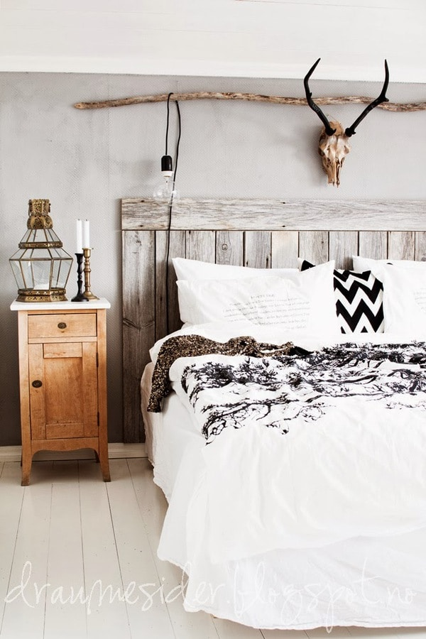 White and black bedding