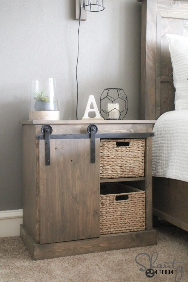 Barn door night stand
