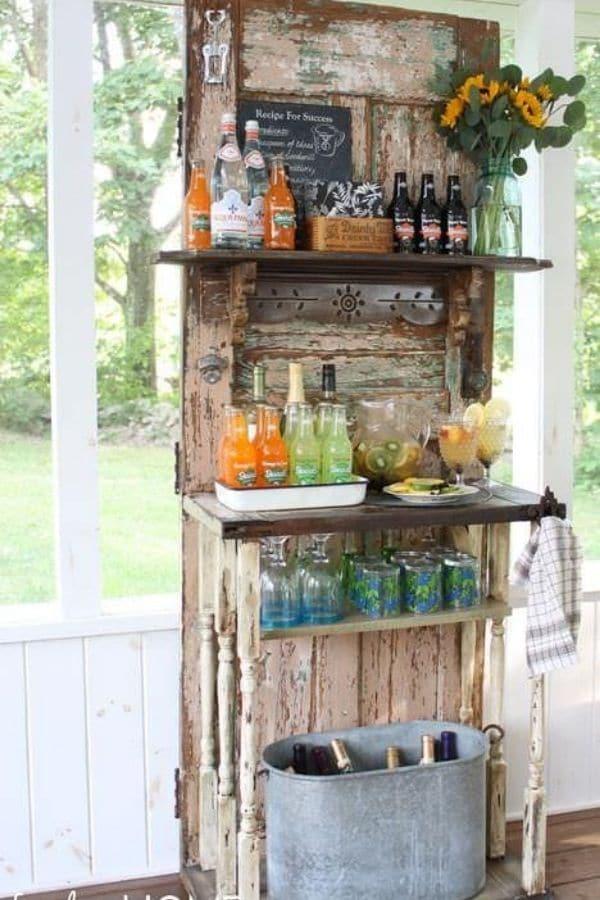 Upcycled door bar