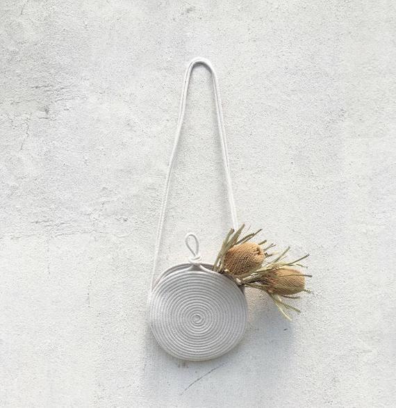 Small crossbody bag rope purse | Etsy
