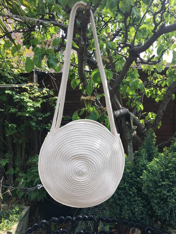 Round Rope Bag MEDIUM. Cotton Rope bag. Shoulder Bag Macrame | Etsy
