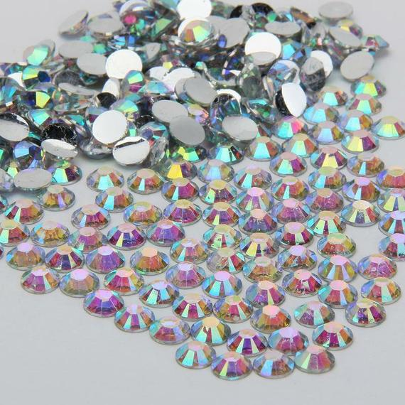 AB Iridescent Non-Hot fix Rhinestones 1000 pcs Resin | Etsy