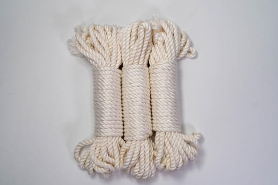 White Bamboo Silk Rope | Etsy