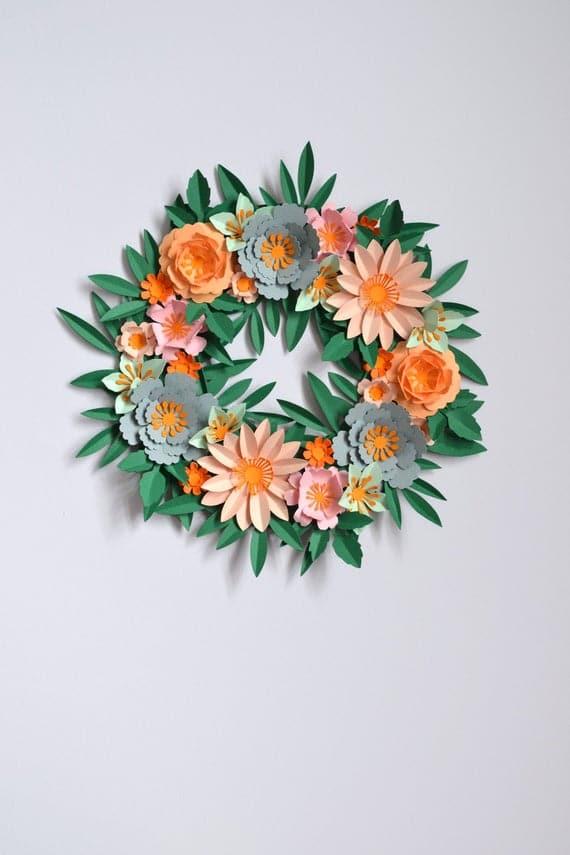 DIY paper flower mini wreath kit   Etsy