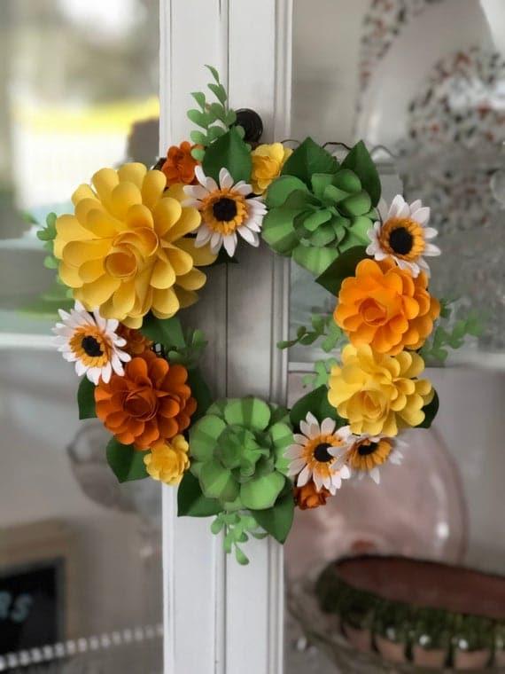 Sunshine Wreath   Etsy