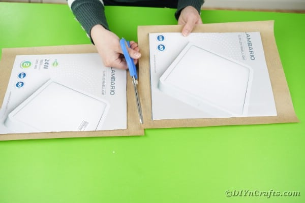 Cutting cardboard pieces out