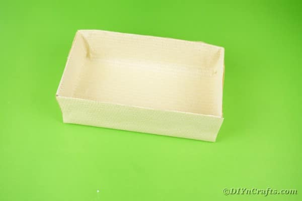 Wrapping box with liht paper