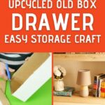 Upcycled box drawer collage