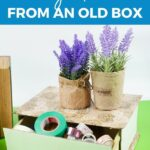 Craft supplies in box drawer