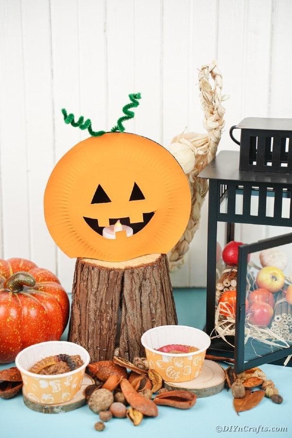 Pappteller Kürbis von Halloween Dekor
