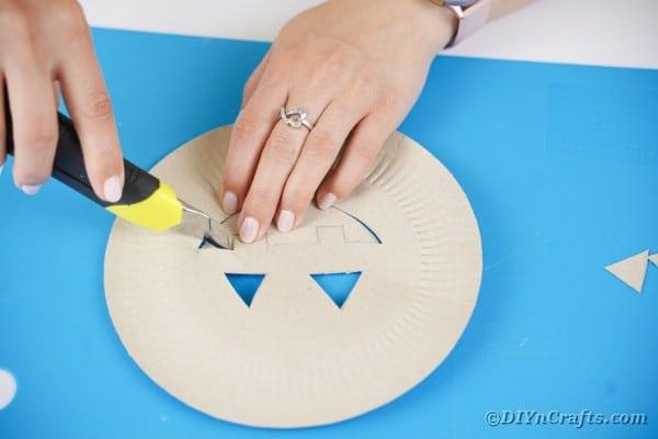 Platte ausschneiden