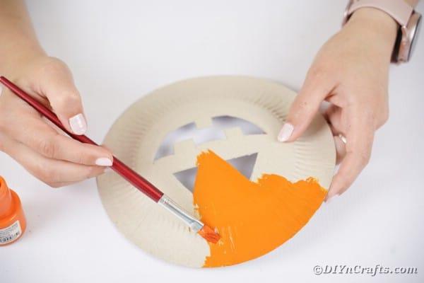 Painting plate orange