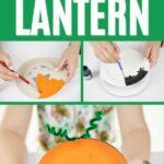 Paper plate pumpkin collage