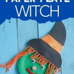 Witch face on blue boards