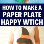 Paper plate witch collage
