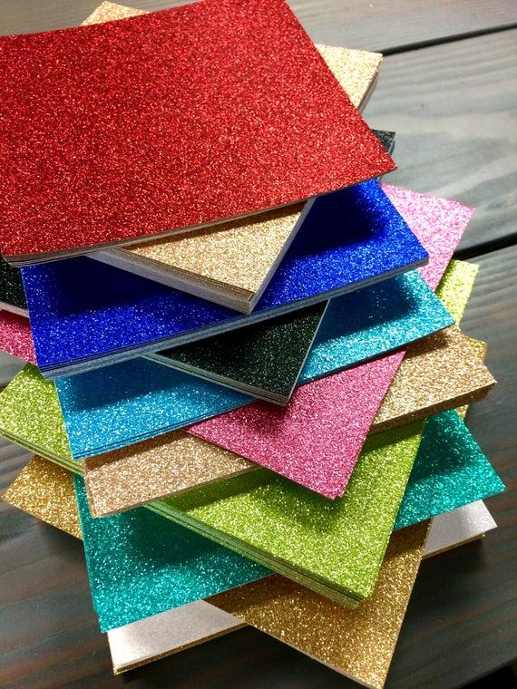 15 Glitter Cardstock Paper 12x12 | Etsy