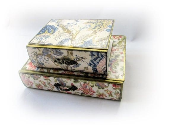 Book Boxes Book Stack Jewelry Organizer Desktop Organizer | Etsy