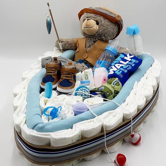 Fishing Boat Diaper Cake Fishing Baby Shower Boat Baby | Etsy