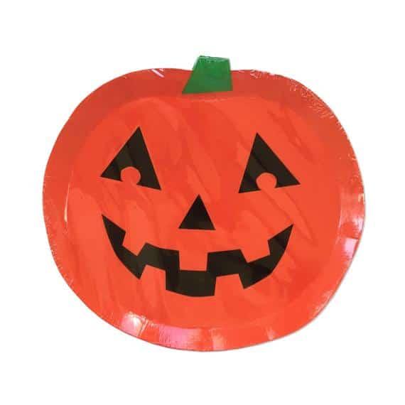 Halloween Pumpkin Plate Jack o Lantern Party Decor Set of | Etsy