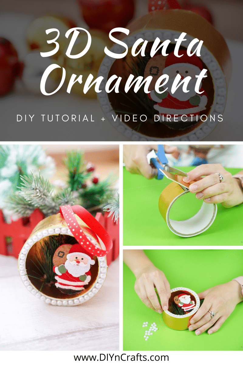 Instructions to make a Christmas ornamnet