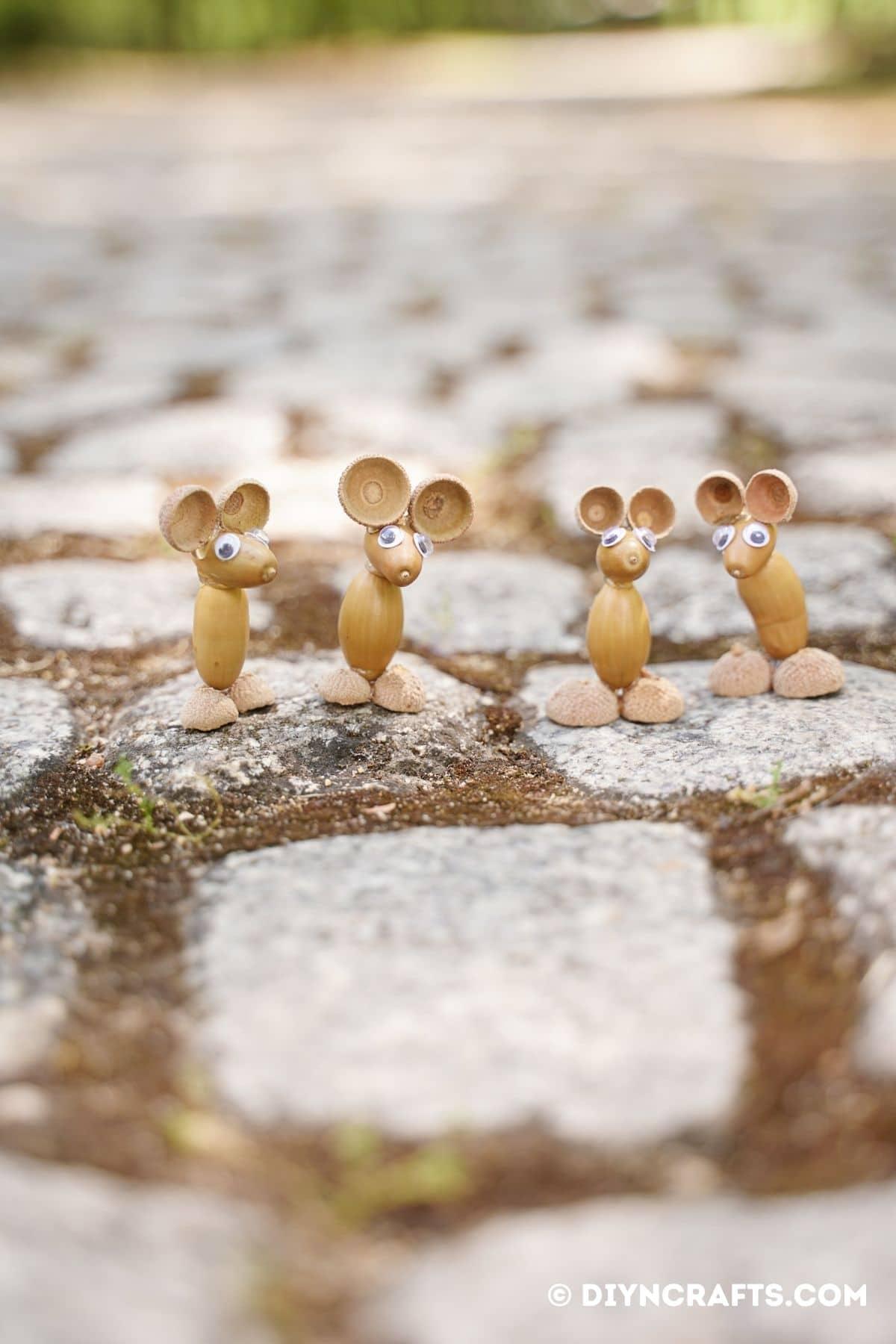 4 acice mouse in cobblestone