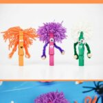 Clothespin monsters collage