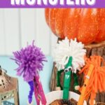 Clothespin monsters with Halloween decor