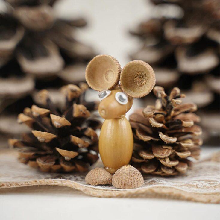 DIY Acorn Mouse