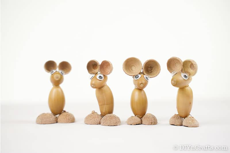 Decorative mouse animals displayed on a table