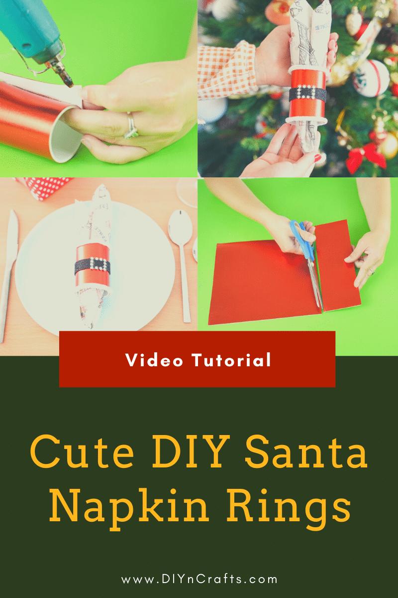 Steps for making Christmas napkin rings